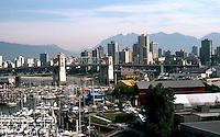Vancouver: Granville Island, Boat Basin from Granville Bridge. Photo '86.