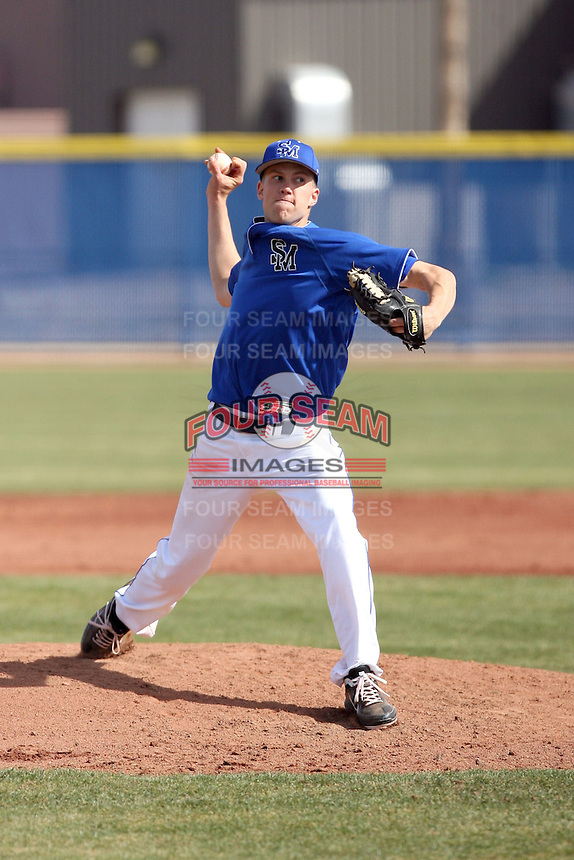 Tyler Wallace, South Mountain Community College Cougars, in action against the  College of Southern Idaho Eagles at South Mountain CC, Phoenix, AZ - 02/06/2011.Photo by:  Bill Mitchell/Four Seam Images.