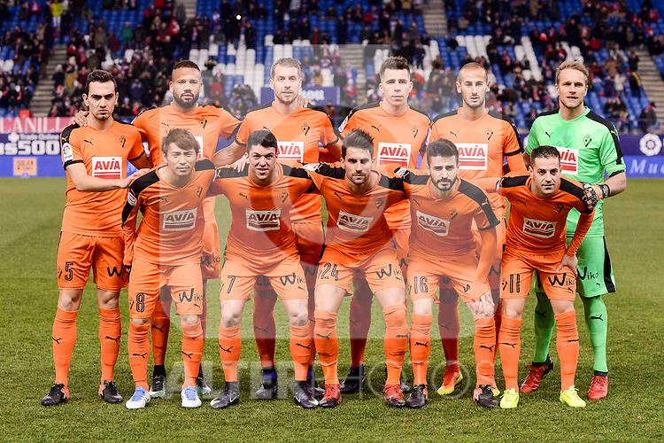 SD Eibar's players during Copa del Rey match between Atletico de Madrid and SD Eibar at Vicente Calderon Stadium in Madrid, Spain. January 19, 2017. (ALTERPHOTOS/BorjaB.Hojas)