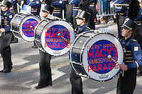 NEW YORK - NOVEMBER 24:  Members of the Legacy High School Lightning Marching band, from Bolder, Colorado, perform during the annual Macy's Thanksgiving Day Parade on Thursday, November 24, 2011.