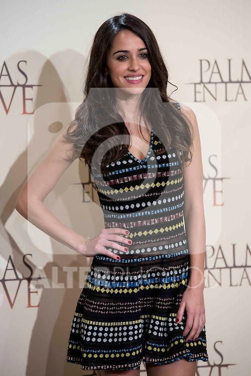 """Macarena Garcia during the presentation of the film """"Palmeras en la nieve"""" in Madrid, December 16, 2015. <br /> (ALTERPHOTOS/BorjaB.Hojas)"""