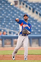 August 19,2010 Alex Valdez (5) during the MiLB game between the Midland RockHounds and the Tulsa Drillers at OneOk Field in Tulsa Oklahoma.