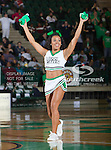 North Texas Mean Green cheerleaders in action during the game between the Jackson State Tigers and the University of North Texas Mean Green at the North Texas Coliseum,the Super Pit, in Denton, Texas. UNT defeated Jackson State 69 to 55...