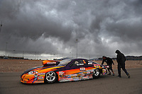Apr. 3, 2009; Las Vegas, NV, USA: NHRA comp eliminator driver Dan Fletcher during qualifying for the Summitracing.com Nationals at The Strip in Las Vegas. Mandatory Credit: Mark J. Rebilas-