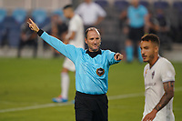 SAN JOSE, CA - SEPTEMBER 5: Referee Kevin Stott during a game between Colorado Rapids and San Jose Earthquakes at Earthquakes Stadium on September 5, 2020 in San Jose, California.