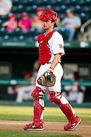 Charles Cutler (37) of the Springfield Cardinals heads out to the mound during a game against the Northwest Arkansas Naturals at Hammons Field on August 1, 2011 in Springfield, Missouri. Springfield defeated Northwest Arkansas 7-1. (David Welker / Four Seam Images)
