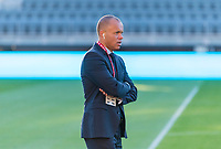 WASHINGTON, DC - OCTOBER 11: Earnie Stewart of the United States walks the field during a game between Cuba and USMNT at Audi Field on October 11, 2019 in Washington, DC.