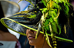 HALLANDALE BEACH, FL - JAN 28: A fan shows off a stylish hat during the Pegasus World Cup Invitational Day at Gulfstream Park Race Course on January 28, 2017 in Hallandale Beach, Florida. (Photo by Scott Serio/Eclipse Sportswire/Getty Images)