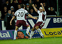 13/11/2006       Copyright Pic: James Stewart.File Name :sct_jspa07_falkirk_v_hearts.ANDRIUS VELICKA CELEBRATES SCORING HEARTS GOAL.James Stewart Photo Agency 19 Carronlea Drive, Falkirk. FK2 8DN      Vat Reg No. 607 6932 25.Office     : +44 (0)1324 570906     .Mobile   : +44 (0)7721 416997.Fax         : +44 (0)1324 570906.E-mail  :  jim@jspa.co.uk.If you require further information then contact Jim Stewart on any of the numbers above.........