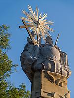 Dreifaltigkeitssäule beim Rathaus, Vojvodina, Vojvojina, Serbien, Europa<br /> Holy Trinity column at city hall Monument at Trg Slobode, Subotica, Vojvodina, Serbia, Europe
