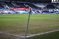 19th December 2020; Liberty Stadium, Swansea, Glamorgan, Wales; English Football League Championship Football, Swansea City versus Barnsley; The pitch at The Liberty Stadium is in poor condition as players warm up