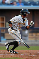 Bradenton Marauders infielder Andy Vasquez #2 during a game against the Charlotte Stone Crabs at Charlotte Sports Park on April 27, 2012 in Port Charlotte, Florida.  Bradenton defeated Charlotte 9-2.  (Mike Janes/Four Seam Images)