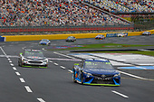 Monster Energy NASCAR Cup Series<br /> Bank of America 500<br /> Charlotte Motor Speedway, Concord, NC<br /> Sunday 8 October 2017<br /> Martin Truex Jr, Furniture Row Racing, Auto-Owners Insurance Toyota Camry and Kevin Harvick, Stewart-Haas Racing, Jimmy John's Ford Fusion<br /> World Copyright: Russell LaBounty<br /> LAT Images