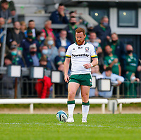 11th September 2021; Galway Greyhound Stadium, Connacht, Galway, Ireland; Pre-season rugby union, Connacht versus London Irish; Rory Jennings lines up a conversion for London Irish