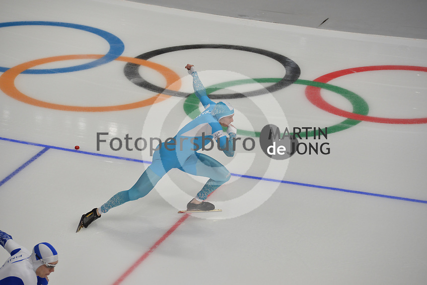 OLYMPIC GAMES: PYEONGCHANG: 19-02-2018, Gangneung Oval, Long Track, 500m Men, Roman Krech (KAZ), ©photo Martin de Jong