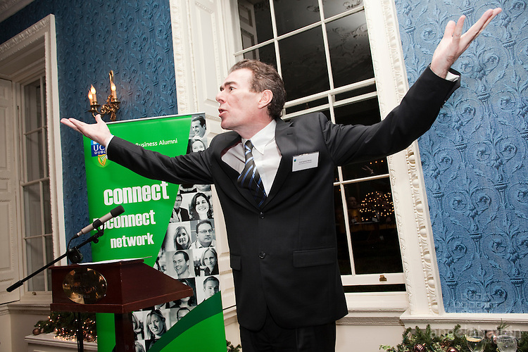 UCD Budget Briefing & Christmas Drinks .The Merrion Hotel - 6th December 2011.L-R.Eamonn Walsh