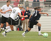 Lisa De Vanna (blue) of the Washington Freedom moves away from Christie Shaner  of Sky Blue F.C. during a WPS pre season match at Maryland Soccerplex,in Boyd's, Maryland on March 14 2009. Sky Blue won the match 1-0