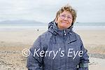 Rose Dowling enjoying a stroll on Banna beach on Saturday