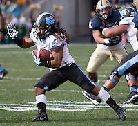 North Carolina running back Khris Francis. The North Carolina Tar Heels defeated the Pitt Panthers 34-27 at Heinz Field, Pittsburgh Pennsylvania on November 16, 2013.
