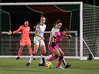 Jessica Silva Valdebenito (18 Charleroi) and Estee Cattoor (11 OHL) in action during a female soccer game between Oud Heverlee Leuven and Sporting de Charleroi on the seventh matchday of the 2020 - 2021 season of Belgian Womens Super League , sunday 15 th of November 2020  in Heverlee , Belgium . PHOTO SPORTPIX.BE | SPP | SEVIL OKTEM