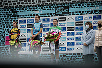 podium:<br /> <br /> 1st place: Elizabeth Deignan (GBR/Trek Segafredo),<br /> 2nd place: Marianne Vos (NED/Jumbo Visma)<br /> 3th place: Elisa Longo Borghini (ITA/Trek Segafredo)<br /> <br /> Inaugral Paris-Roubaix Femmes 2021 (1.WWT)<br /> One day race from Denain to Roubaix (FRA) (116.4km)<br /> <br /> ©kramon