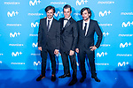Pablo Nieto, Fonsi Nieto and Gelete Nieto attends to blue carpet of presentation of new schedule of Movistar+ at Queen Sofia Museum in Madrid, Spain. September 12, 2018. (ALTERPHOTOS/Borja B.Hojas)