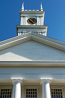 Old Whaling Church, Edgartown, Martha's Vineyard, Massachusetts, USA. Circa 1843
