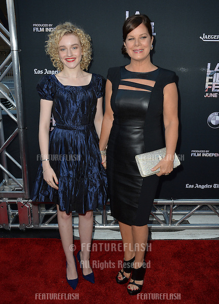 """Julia Garner & Marcia Gay Harden at the premiere of their movie """"Grandma"""", the opening movie of the Los Angeles Film Festival, at the Regal Cinema LA Live.<br /> June 11, 2015  Los Angeles, CA<br /> Picture: Paul Smith / Featureflash"""