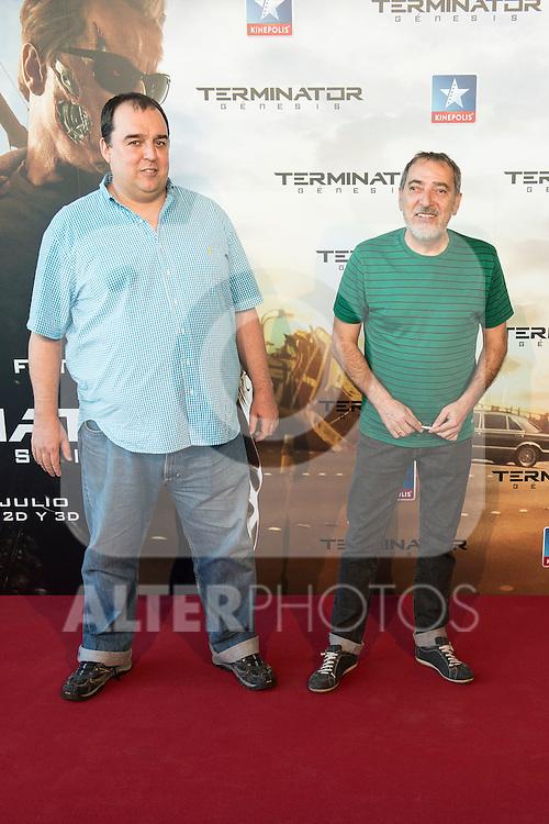 Actor Enrique Villén attends to the premiere of Terminator Genesis at Kinepolis Cinema in Madrid, Spain. July 08, 2015.<br />  (ALTERPHOTOS/BorjaB.Hojas)
