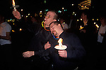 Manchester, Lancashire. 1999<br /> A night vigil to remember friends and lovers who had died from AIDS.