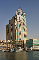 Dubai, United Arab Emirates. Dubai Marina. New luxurious residential and commercial development..