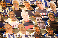 Cardboard cut-outs of fans look on during Colchester United vs Exeter City, Sky Bet EFL League 2 Football at the JobServe Community Stadium on 23rd February 2021