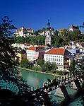 Deutschland, Oberbayern, Burghausen an der Salzach: laengste Burganlage Europas (1.043 m) | Germany, Upper Bavaria, Burghausen at river Salzach: longest castle of Europe (1.043 m)