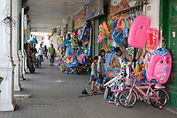 Tripoli, Libya - Street Scene, Toy Store, Inflatable Plastic Toys