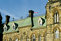 Ottawa (ON) CANADA - File Photo - <br /> Canadian House of Commons (Parliament of Canada) copper roof top.<br /> <br /> <br /> photo by Pierre Roussel -