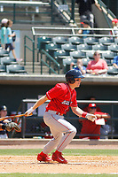 Lakewood BlueClaws Designated hitter Henri Lartigue (11) at bat during a game against the Charleston RiverDogs on May 3, 2017 at Joseph P. Riley Ballpark in Charleston, South Carolina. Lakewood defeated Charleston 10-6. (Robert Gurganus/Four Seam Images)
