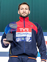 1 ESP LOPEZ PINEDO Daniel Spain Best Goal Keeper<br /> Budapest 26/01/2020 Duna Arena <br /> Men Medal Ceremony<br /> XXXIV LEN European Water Polo Championships 2020<br /> Photo  ©Giorgio Scala / Deepbluemedia / Insidefoto