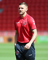 Fleetwood Town players inspect the pitch before kick off<br /> <br /> Photographer David Shipman/CameraSport<br /> <br /> The EFL Sky Bet League One - Doncaster Rovers v Fleetwood Town - Saturday 17th August 2019  - Keepmoat Stadium - Doncaster<br /> <br /> World Copyright © 2019 CameraSport. All rights reserved. 43 Linden Ave. Countesthorpe. Leicester. England. LE8 5PG - Tel: +44 (0) 116 277 4147 - admin@camerasport.com - www.camerasport.com