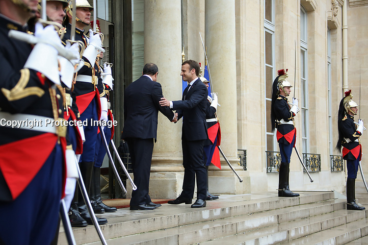ABDEL FATTAH AL-SISSI, EMMANUEL MACRON - LE PRESIDENT EMMANUEL MACRON RECOIT LE PRESIDENT EGYPTIEN ABDEL FATTAH AL-SISSI AU PALAIS DE L'ELYSEE A PARIS, FRANCE, LE 24/10/2017.