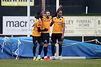 George Porter of Maidstone scores the second goal for his team and celebrates during Hornchurch vs Maidstone United, Buildbase FA Trophy Football at Hornchurch Stadium on 6th February 2021
