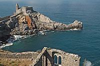 - Portovenere (La Spezia), the cape with the church of S.Peter..- Portovenere (La Spezia), la punta con la chiesa di S.Pietro