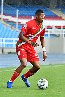 CALI – COLOMBIA, 27-02-2021: Daniel Mera de Cortuluá en acción durante el partido entre Atlético FC y Cortuluá por la fecha 8 del Torneo BetPlay DIMAYOR 2021 jugado en el estadio Pascual Guerrero de la ciudad de Cali. / Daniel Mera of Cortulua in action during match between Atletico FC and Cortulua for the date 8 as part of BetPlay DIMAYOR Tournament 2021 played at the Pascual Guerrero stadium in Cali city. Photos: VizzorImage / Nelson Rios / Cont.