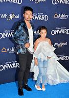 "LOS ANGELES, CA: 18, 2020: Nephi Garcia & Lili Garcia at the world premiere of ""Onward"" at the El Capitan Theatre.<br /> Picture: Paul Smith/Featureflash"