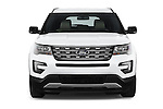 Car photography straight front view of a 2017 Ford Explorer XLT 4 Door SUV Front View
