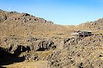 Mt. Ruapehu terrain with hidaway cabin.