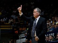 California head coach Mike Montgomery calls a play during the game against CSUB at Haas Pavilion in Berkeley, California on November 11th, 2012.  California defeated CSUB, 78-65.