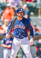 15 March 2016: Houston Astros infielder Tyler White in action during a Spring Training pre-season game against the Washington Nationals at Osceola County Stadium in Kissimmee, Florida. The Astros fell to the Nationals 6-4 in Grapefruit League play. Mandatory Credit: Ed Wolfstein Photo *** RAW (NEF) Image File Available ***