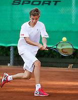 August 9, 2014, Netherlands, Rotterdam, TV Victoria, Tennis, National Junior Championships, NJK,  Final boys 14 years Alec Deckers (NED)  )<br /> Photo: Tennisimages/Henk Koster