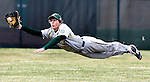 Medina's Zack Jarrell makes a diving catch to rob Strongsville's Aaron Caputo of a hit during the second inning Wednesday April 11, 2012. The Bees lost 4-2. (GAZETTE PHOTO BY RON SCHWANE)