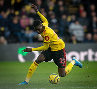 Ismaïla Sarr of Watford during the Premier League match between Watford and Manchester United at Vicarage Road, Watford, England on 22 December 2019. Photo by Andy Rowland.